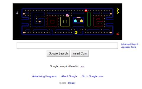 Google Logo | Pack Man